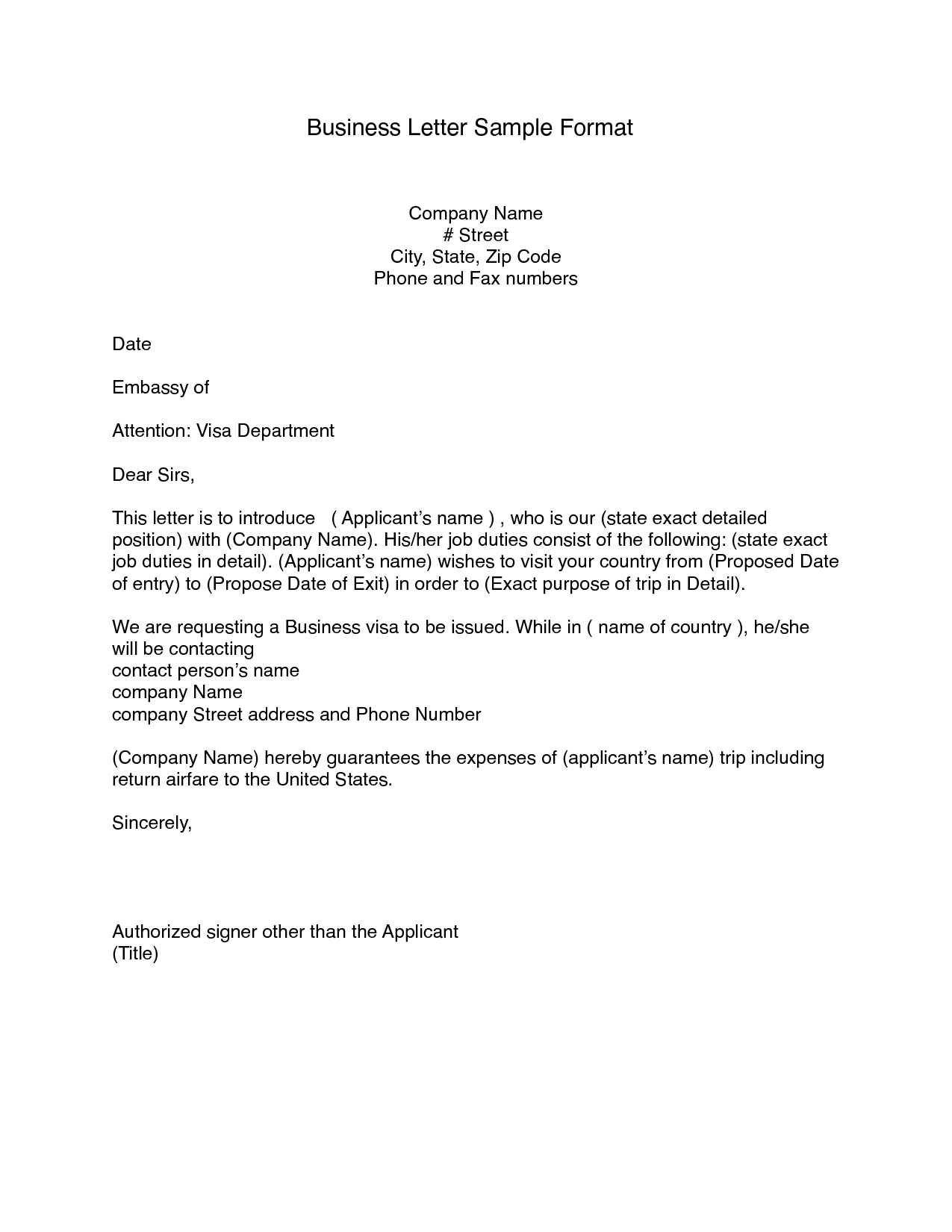 business to business letter format