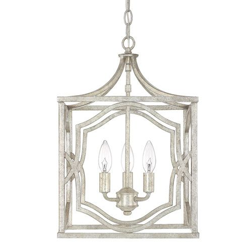 Blakely Antique Silver Three Light Foyer Fixture Capital Lighting Company Other Pe