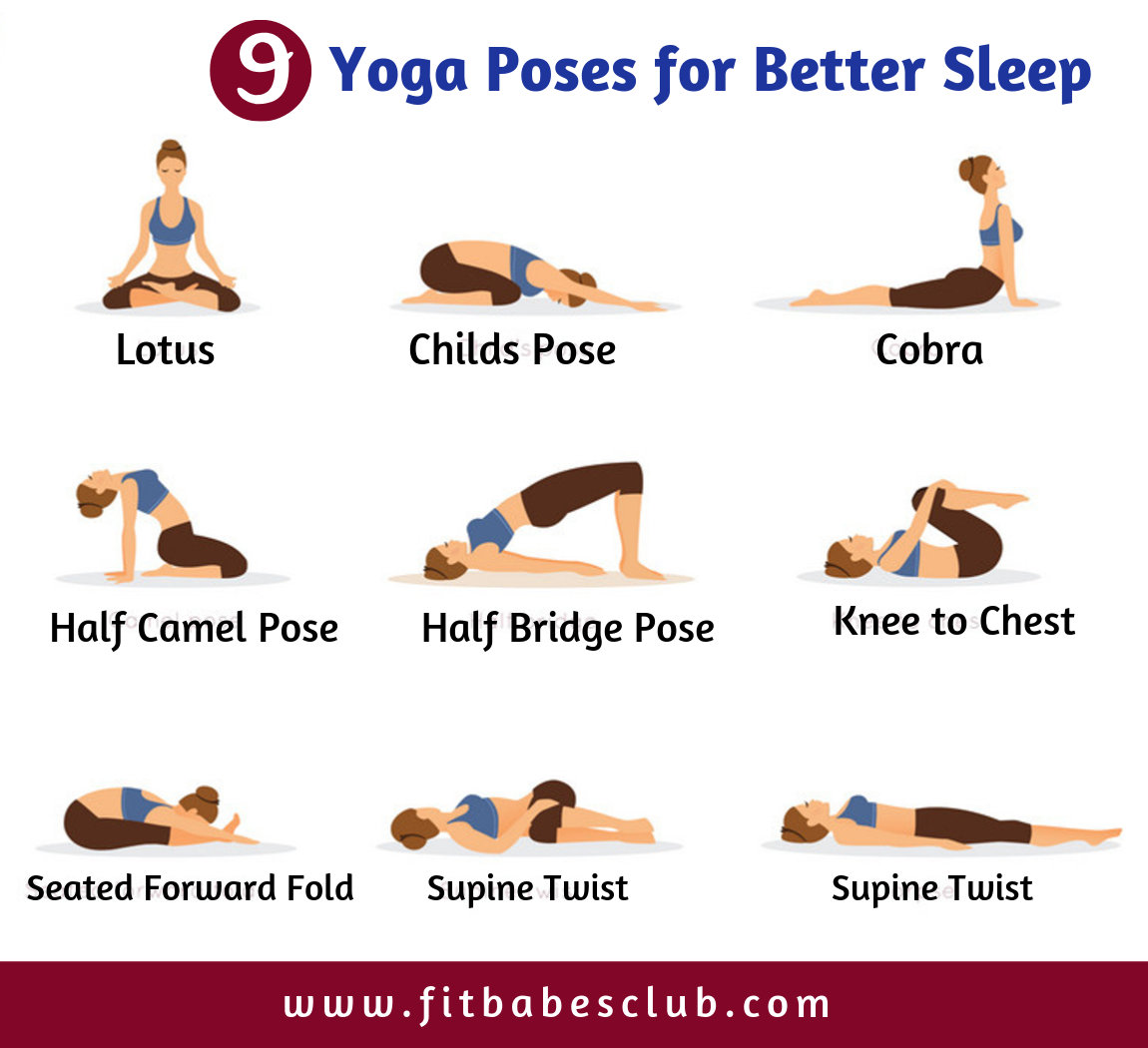 9 Yoga Poses For Better Sleep Workout For Beginners Yoga For Beginners Yoga Poses