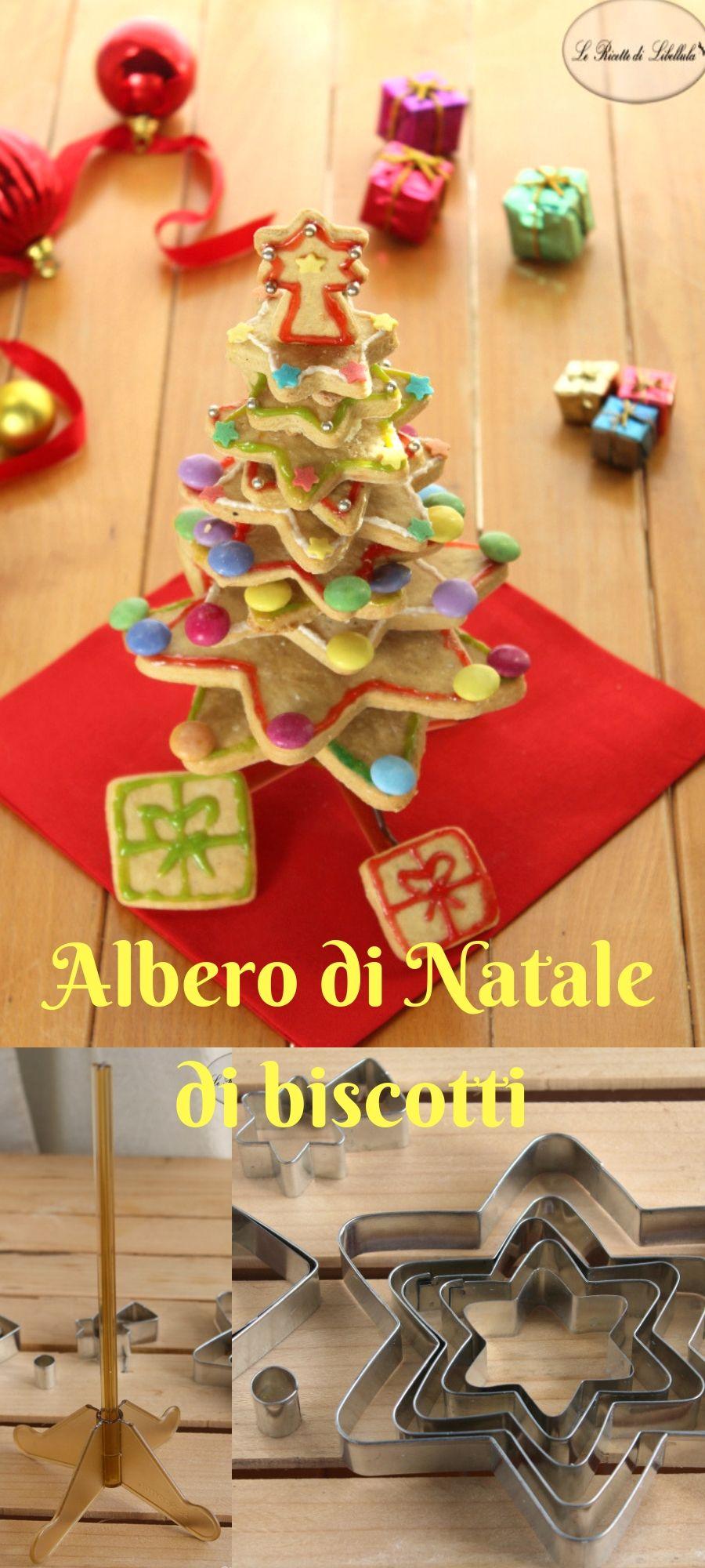 Albero Di Natale Di Biscotti.Albero Di Natale Di Biscotti Ricetta Alimenti Di Natale Ricette Natale