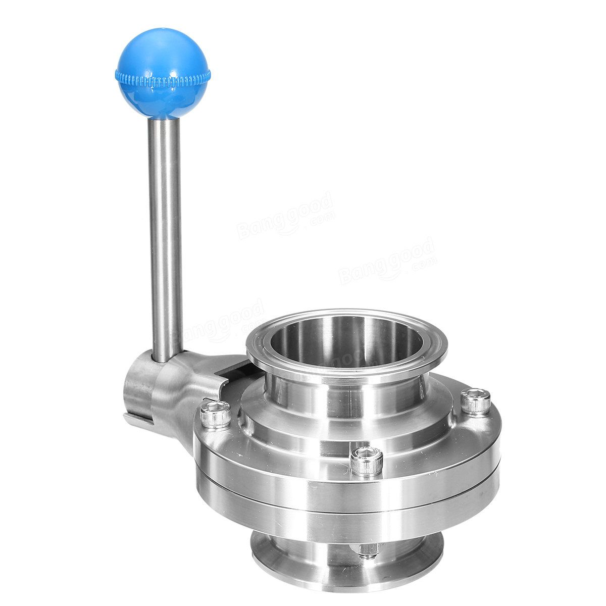 2 Inch Butterfly Valve Tri-Clamp Stainless 304 Silicone Seal