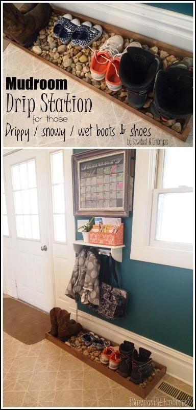 Diy Drip Tray For Wet And Muddy Shoes Home Diy Entryway Storage Home