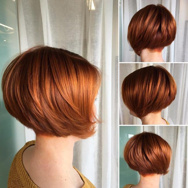 Blunt Ginger Bob Short Copper Hair Short Hair Balayage Curly Hair Styles Naturally