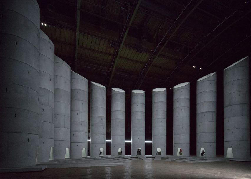 concrete wells hosting mourners| OMA