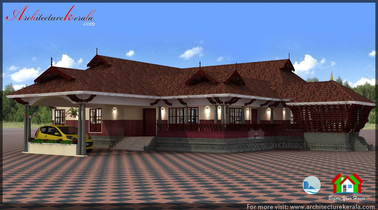 Beautiful Farmhouse In Kerala Nadumuttam And Poomukham Kuthiramalika Style Designed House Plan