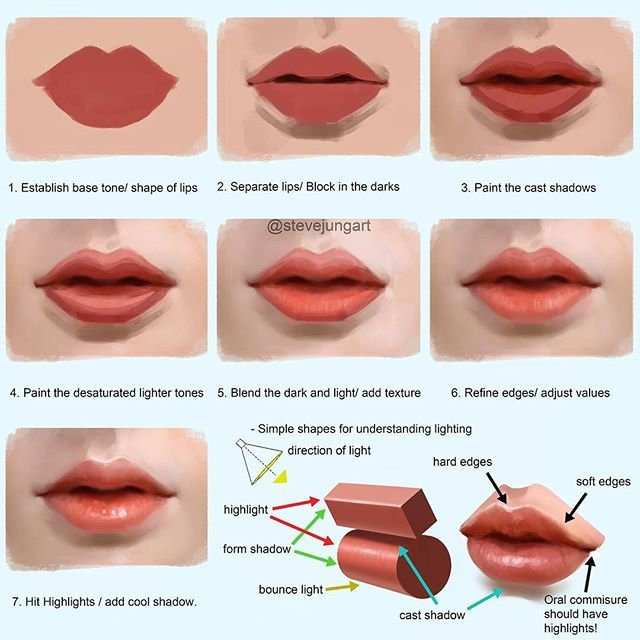 As Promised Here Is My Process On How To Paint Lips This Is