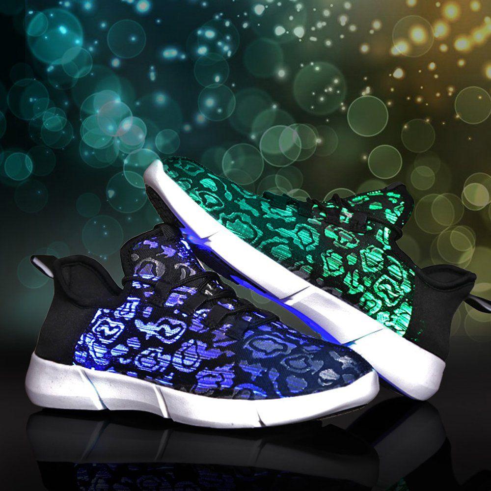 722de6c3b3a6 Idea Frames Fiber Optic LED Light Up Shoes For Women Men USB Rechargeable  Flashing Fashion Sneaker Kid Size Women Size Men Size   You can get more  details ...