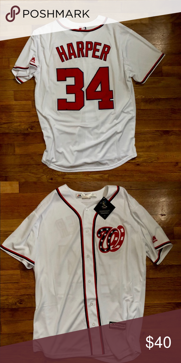 more photos df32f 4a53f Bryce Harper Washington Nationals Jersey / L NWT Brand New w ...