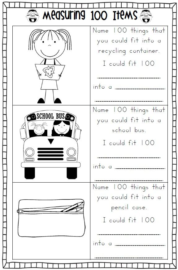 100th Day of School Printables - FIRST AND SECOND GRADE | Kind
