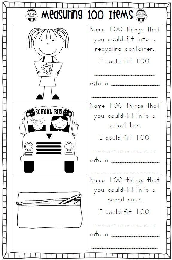 100th Day Of School Printables School Worksheets Math Worksheets