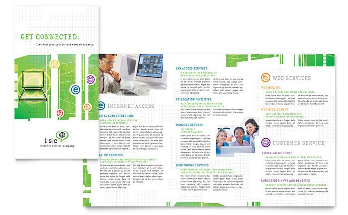 isp internet service brochure design template by stocklayouts dtp