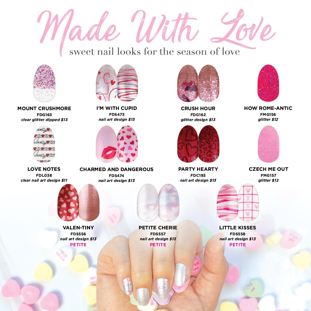 Valentines 2020 Color Street Valentine Nail Art Nail Designs Valentines