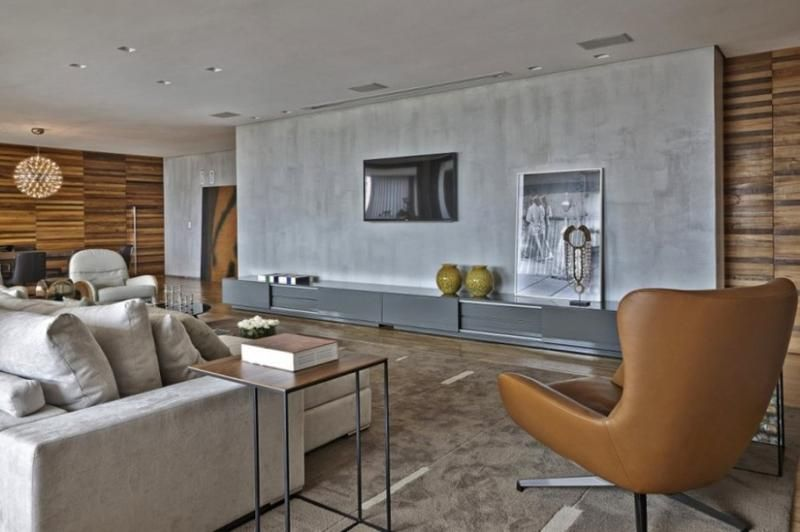 25 captivating living room designs with concrete wall