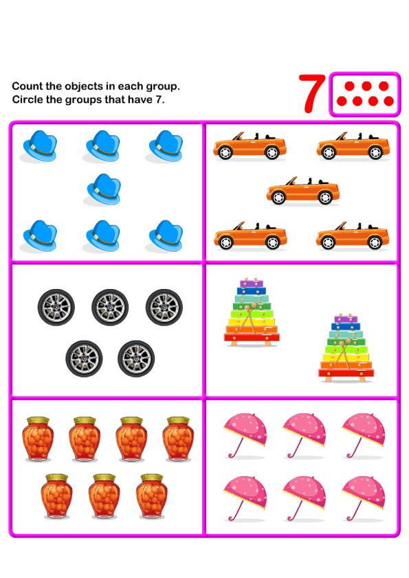 Math Worksheets, Kindergarten Worksheets | Fun Math Games for Kids ...