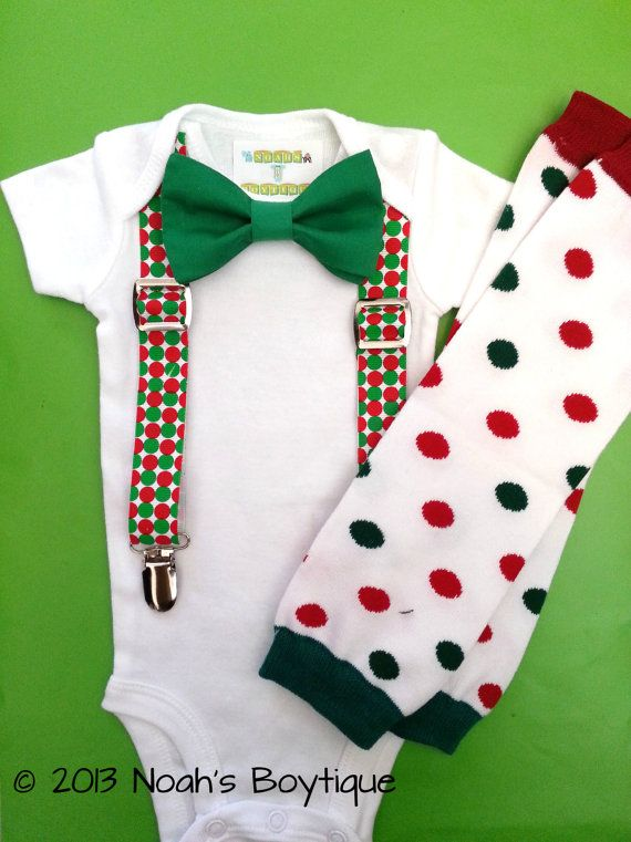 Baby Boy Christmas Outfit - First Christmas Outfit Boy- Christmas Suspender  Bodysuit - Christmas Legwarmers - Newborn Christmas by Noahs Boytique,  $25.00 - Baby Boy Christmas Outfit - First Christmas Outfit Boy- Christmas