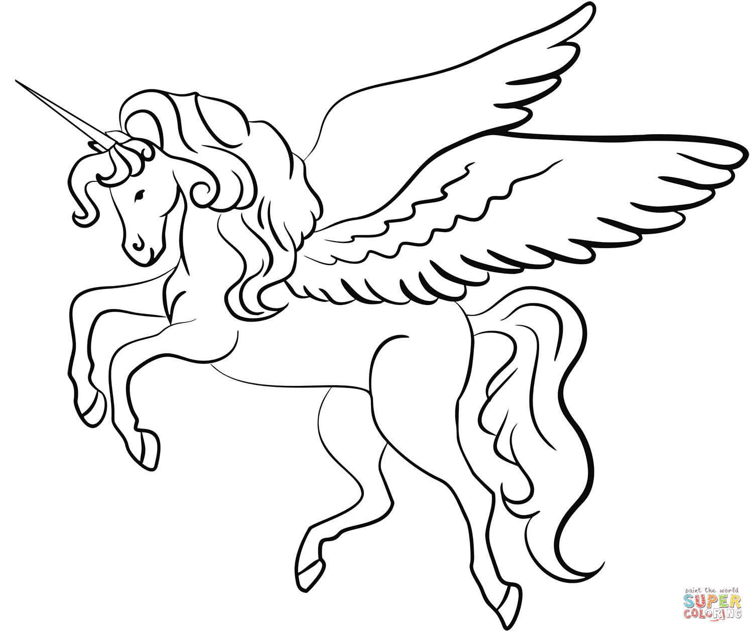 Pin på Unicorn coloring pages