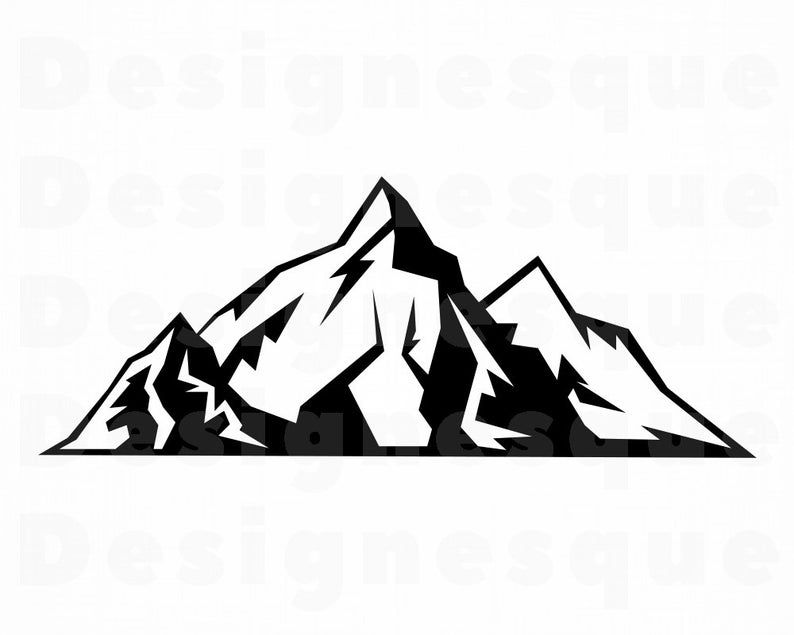 Mountain Svg Mountains Svg Mountain Clipart Mountain Files Etsy In 2020 Mountain Svg Mountain Clipart Pictures To Draw