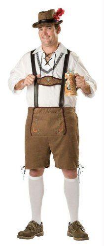 Beer Guy Costume German Oktoberfest Bavarian Mens Lederhosen Fancy Dress M-3XL