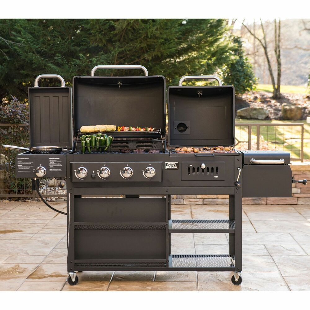 Infrared Gascharcoalgrill Combo Commercial Bbq Set For Graden Outdoor Cooking On Clearance Ebay Gas And Charcoal Grill Bbq Set Charcoal Grill