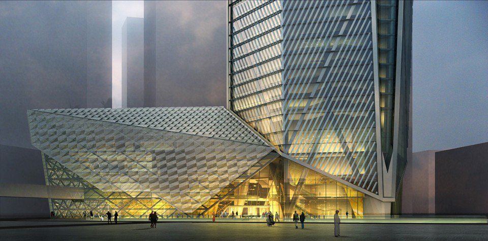 Square Capital Tower Kuwait Architecture Podium Architecture Facade Architecture