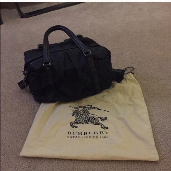 SaleBeautiful Black Burberry Diaper Bag Excellent used condition. Very cute  and stylish! Price is firm Burberry Bags Baby Bags 79cbc0c5535c1