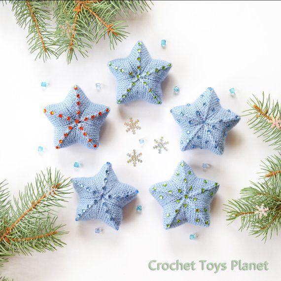 Christmas Ornaments Set Of 5 Stars Winter Decor Christmas Etsy Christmas Tree Decorations Christmas Ornament Sets Christmas Ornaments