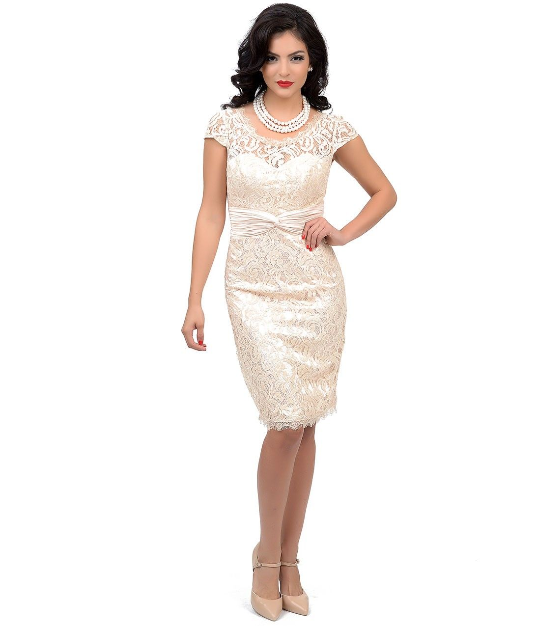 Champagne Short Sleeve Dress