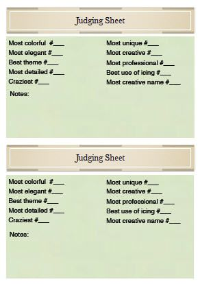 Judgingsheet Door Decorating Contest Family Christmas Party Gingerbread House Decorations