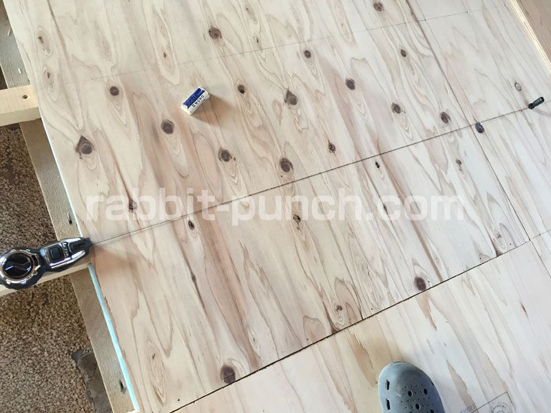 床下地板diy 捨て貼りは構造用合板を千鳥張りにする Rabbit Punch