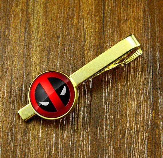 Deadpool Corps   Tie Clips ,Wedding Tie clips,Groom Men Tie Clips,Tie Tack ,Father Tie Accessories