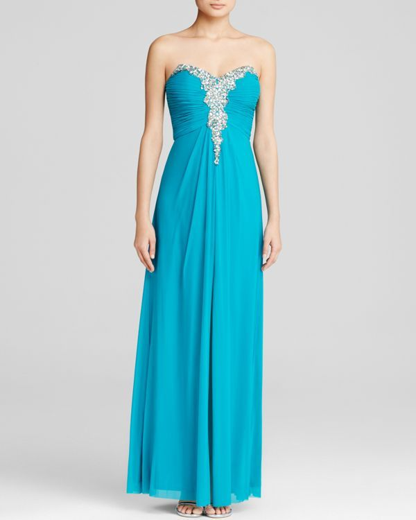 Decode 1.8 Gown - Strapless Sweetheart Neck Embellished