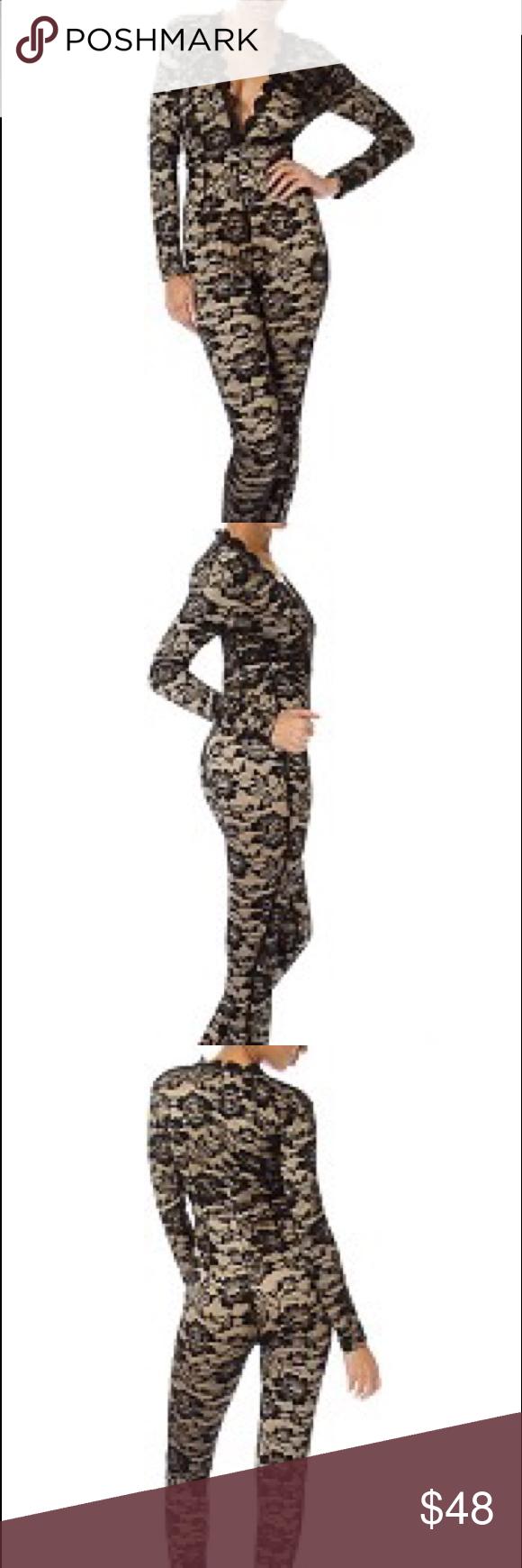 Long sleeve scallop mock neck lace bodysuit-id.cc51853a