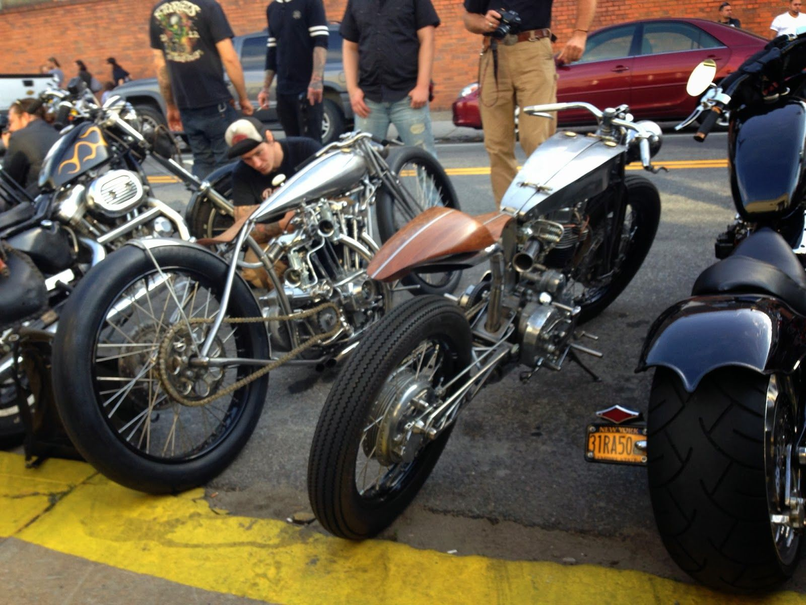 Incredible Retro Custom Cafe Racers At The Brooklyn Invitational