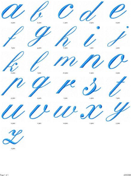 Fancy Calligraphy Alphabet Letters