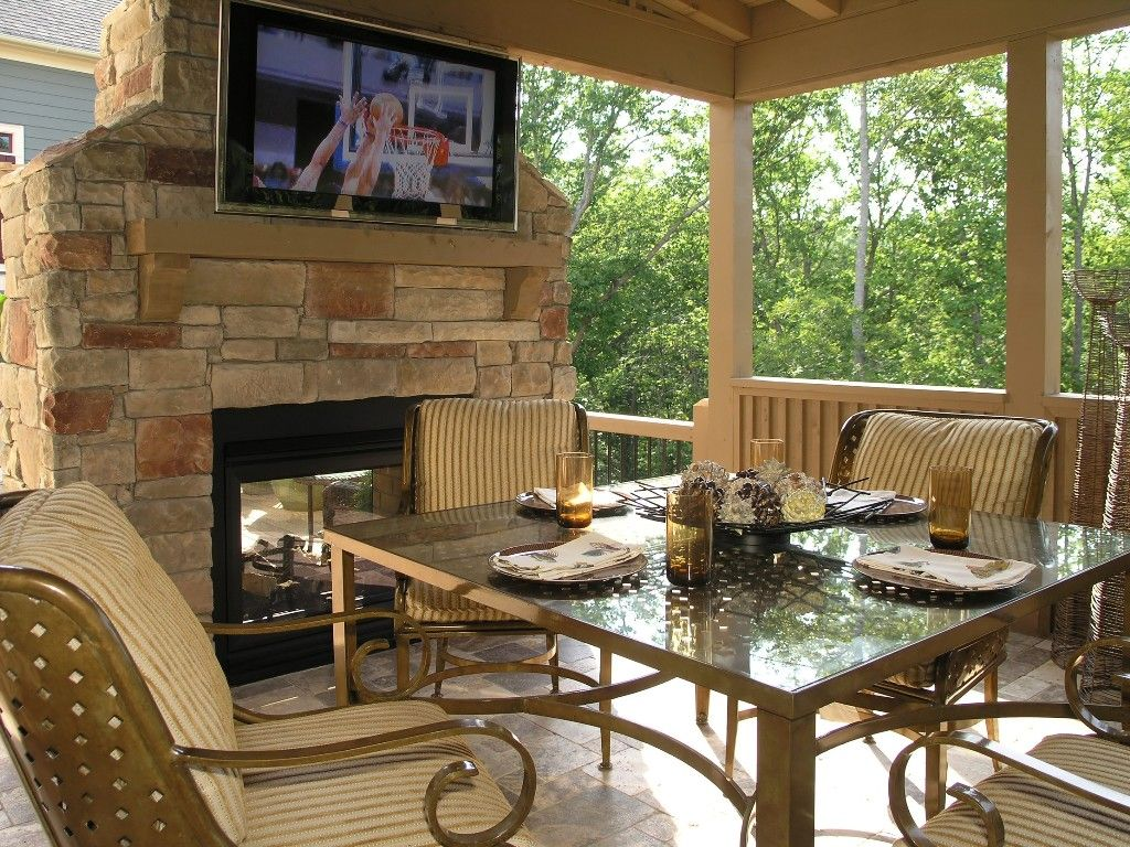 Covered outdoor kitchens and patios patio and deck for Outdoor porches and patios