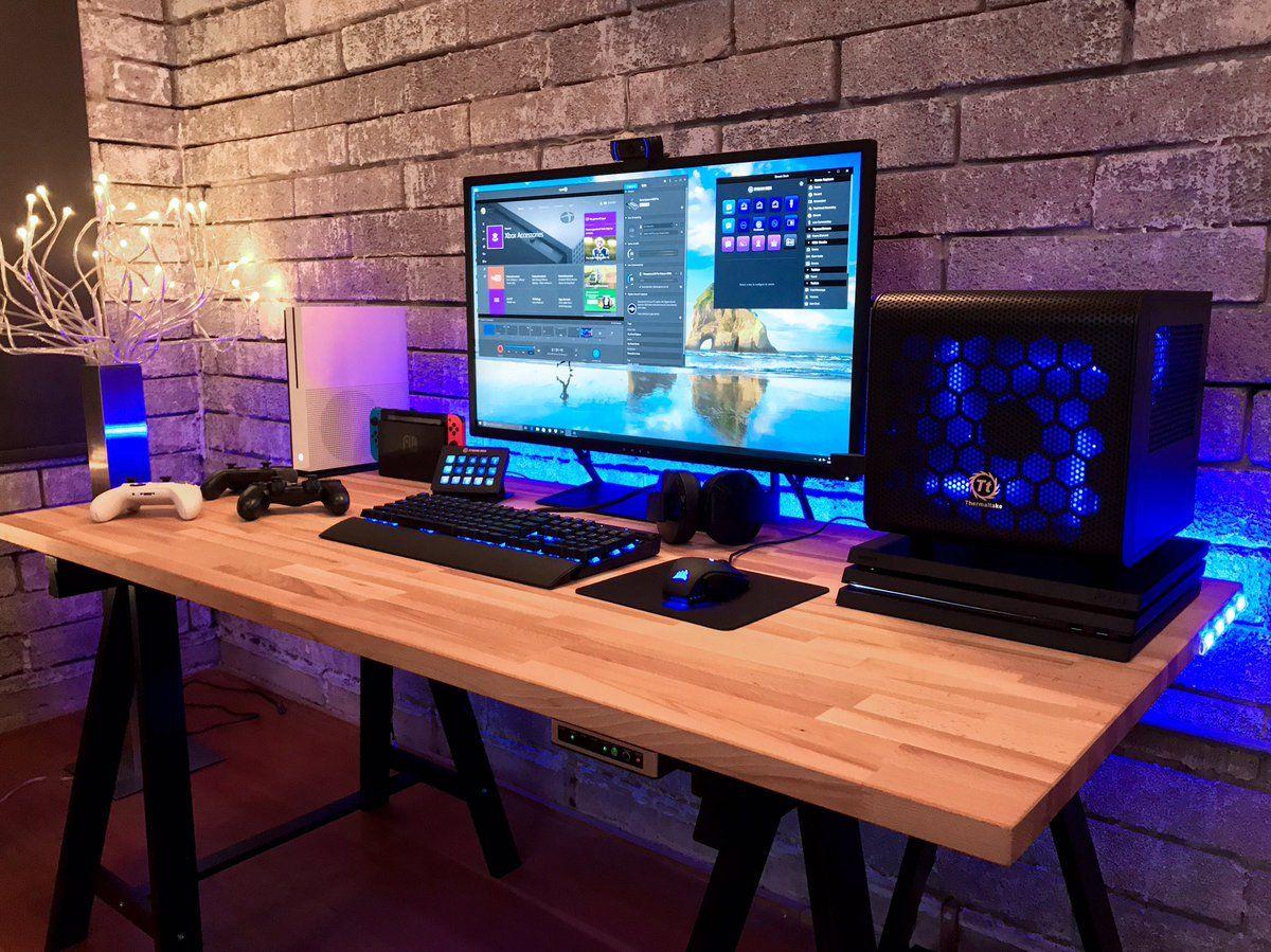 KENWORTH 🐟 on in 2020 | Game room design, Computer desk ...