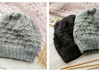Honeycomb Hat Knitting Pattern Free & Paid in 2020 | Hat ...