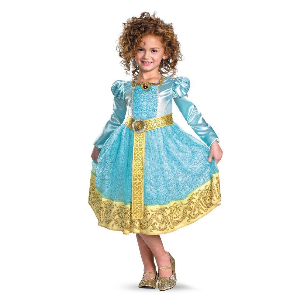 Disney brave movie merida deluxe costume dress child toddler