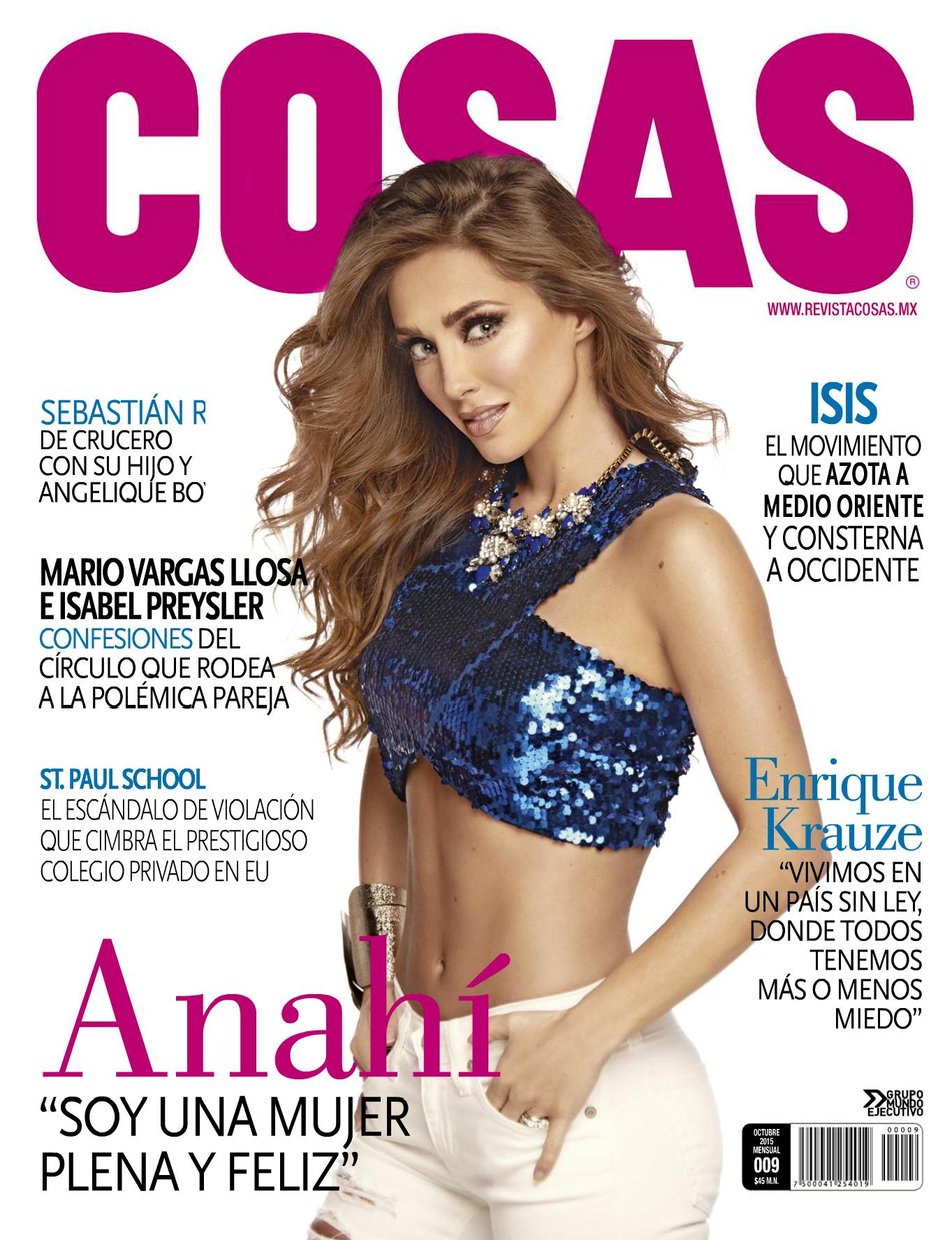 Anahí estampa capa da nova edição da revista Cosas | POPline
