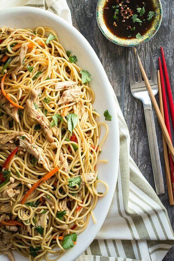 Asian Chicken Pasta Salad Recipe Food Recipes Food Asian Recipes