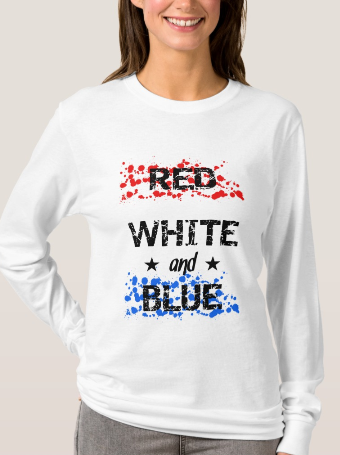 Kick Off The Summer With A Celebratory Top That Reads Red White And Blue