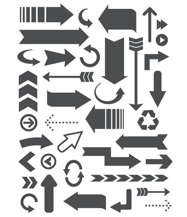 free retro style arrow vectors free vector site download free rh pinterest com arrow vector free psd arrow design vector free download