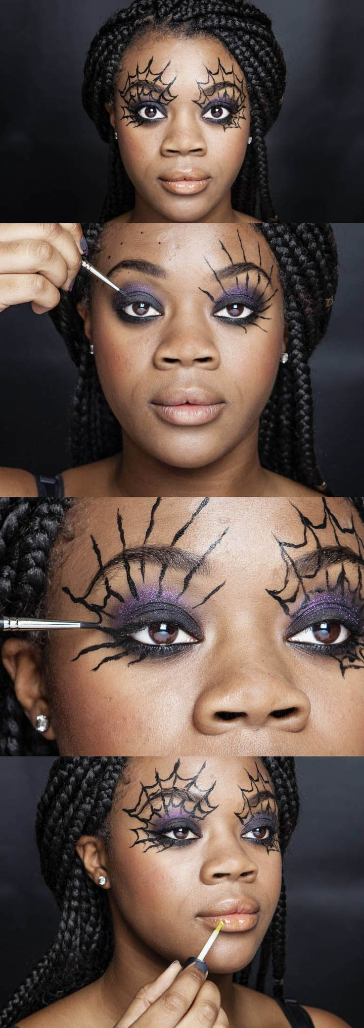 Halloween how-to: Cobweb eyes #fallmakeuplooks