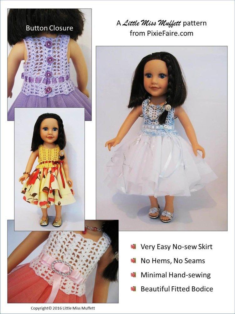 Romantic Fusion Crochet Pattern For Journey Girls Dolls   Puppen