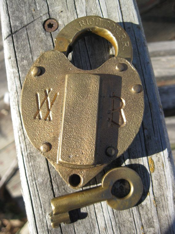 Wilson Bohannan Railroad Grade Lock Patented June 25 1879 For A Hardware Company In Kansas City Missouri Called Llaves Antiguas Cadenas Decoracion De Unas