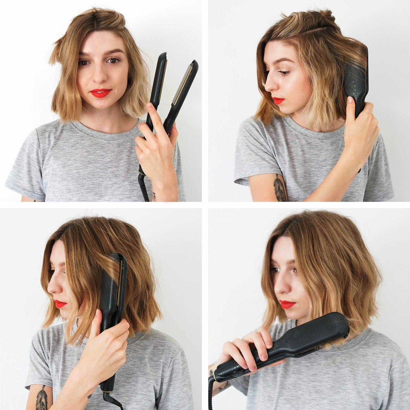 How To Messy Bob How To Curl Short Hair Hair Styles Short Hair Styles