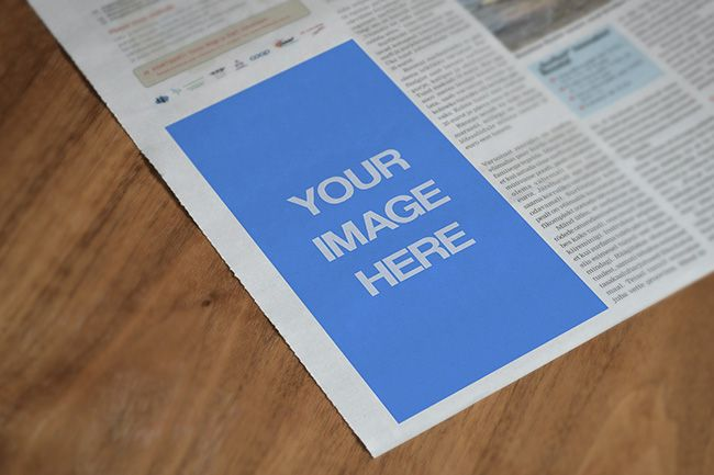 A Paper Closeup Mockup Template Sharetemplates Mockup Newspaper Ad