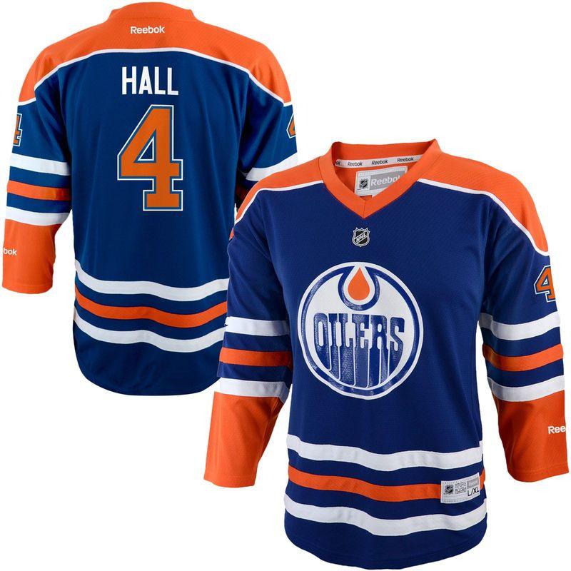 ... authentic bcf6e 3ac9f  new zealand taylor hall edmonton oilers reebok  youth replica player hockey jersey navy blue 8fc67 a6c08 ec5ec780d