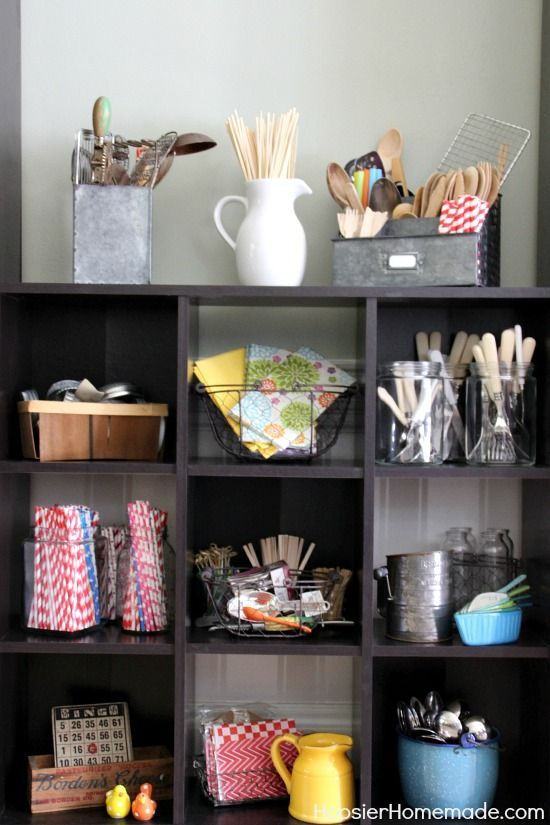simply organized home office. Simple Organizing For Your Studio, Home Office And More | Details On HoosierHomemade.com Simply Organized R