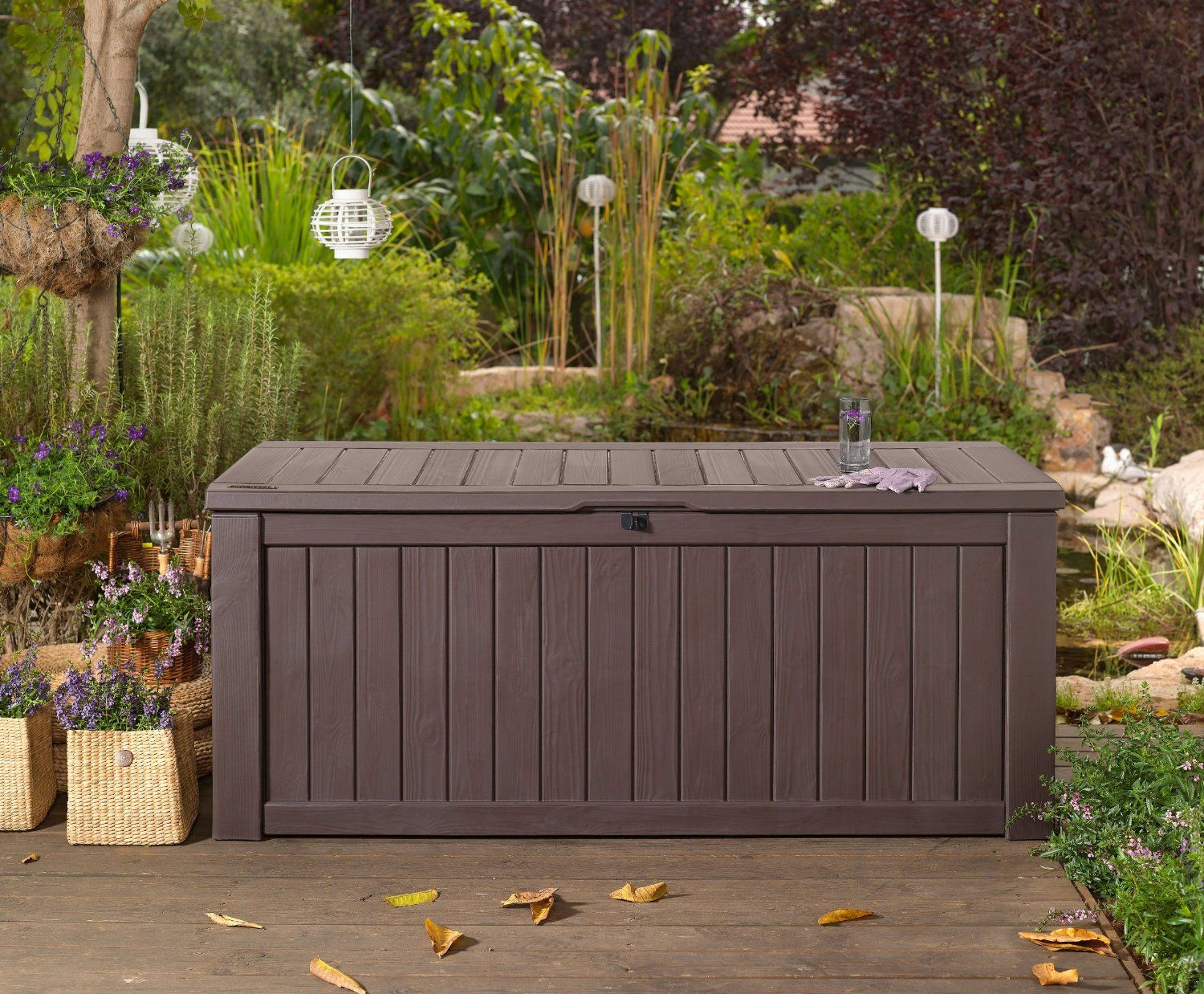Garden Storage Bench Box Large 570l Keter Resin Furniture